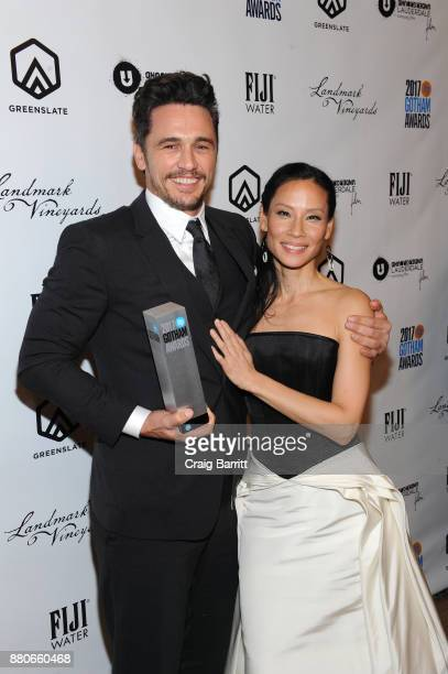Actors James Franco and Lucy Liu attend The 2017 IFP Gotham Independent Film Awards cosponsored by Landmark Vineyards at Cipriani Wall Street on...