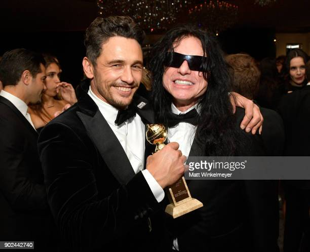 Actors James Franco and Tommy Wiseau attend the 2018 InStyle and Warner Bros 75th Annual Golden Globe Awards PostParty at The Beverly Hilton Hotel on...