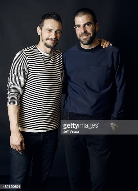 Actors James Franco and Zachary Quinto of 'I Am Michael' pose for a portrait at the Village at the Lift Presented by McDonald's McCafe during the...