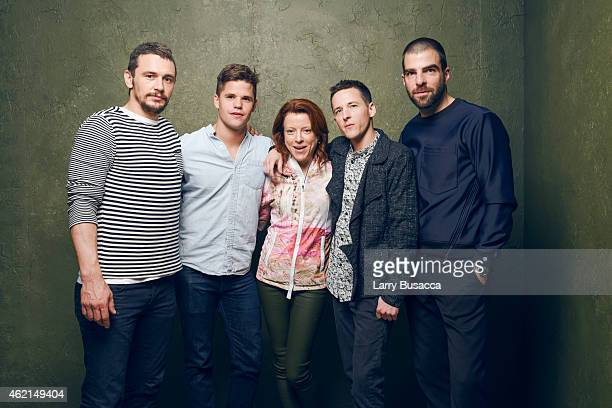 Actors James Franco Charlie Carver producer Lauren Selig director/writer Justin Kelly and actor Zachary Quinto of 'I Am Michael' pose for a portrait...