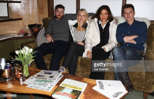 Actors James Frecheville and Naomi Watts director Anne Fontaine and actor Xavier Samuel attend Day 1 of the Variety Studio at 2013 Sundance Film...