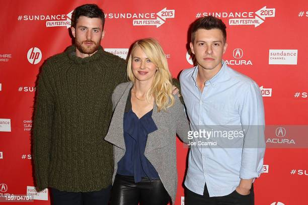 Actors James Frecheville Naomi Watts and Xavier Samuel arrive at the 'Two Mothers' Premiere at the 2013 Sundance Film Festival at Eccles Center...