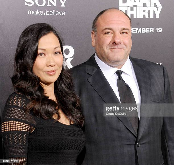 Actors James Gandolfini and wife Deborah Lin arrive at the Los Angeles premiere of Zero Dark Thirty at the Dolby Theatre on December 10 2012 in...