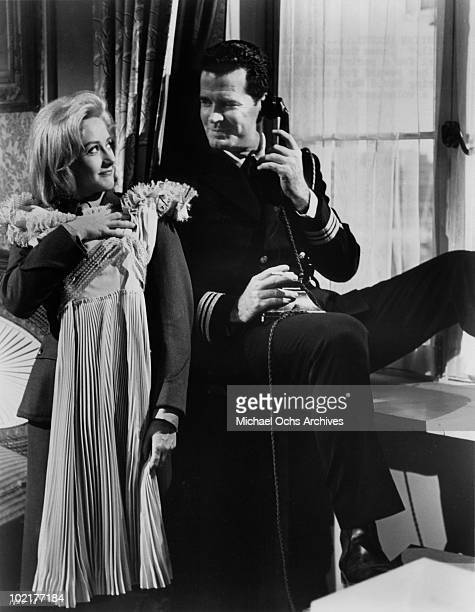 Actors James Garner and Liz Fraser in a scene from the movie 'The Americanization of Emily' in 1964 in London England
