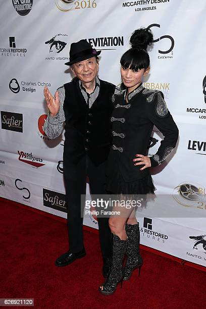 """Actors James Hong and Bai Ling attend the world premiere of """"Better Criminal"""" at TCL Chinese Theatre IMAX on November 30, 2016 in Hollywood,..."""