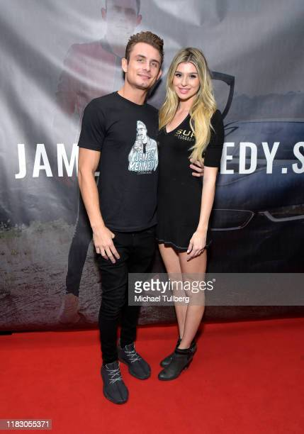 Actors James Kennedy and Raquel Leviss attend the Los Angeles launch party for JamesKennedyshop at SUR Lounge on October 23 2019 in Los Angeles...