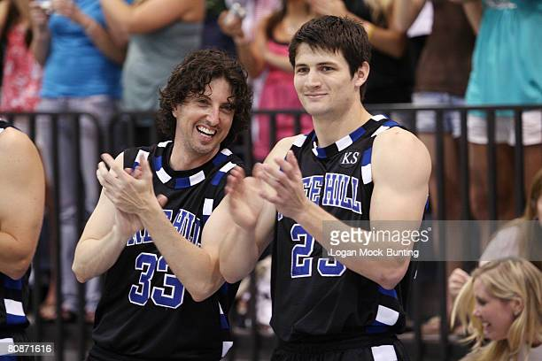 Actors James Lafferty and Mark Schwahn during the 5th Annual James Lafferty/One Tree Hill Charity Basketball Game on the campus of Cape Fear...