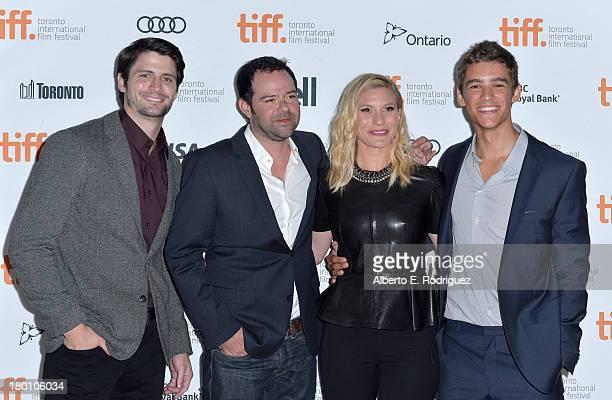 Actors James Lafferty Rory Cochrane Katee Sackhoff and Brenton Thwaites attend the 'Oculus' premiere during the 2013 Toronto International Film...