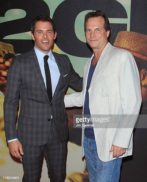"""Actors James Marsden and Bill Paxton attend the """"2 Guns"""" New York Premiere at SVA Theater on July 29, 2013 in New York City."""