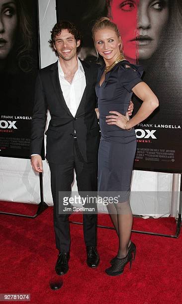 Actors James Marsden and Cameron Diaz attend The Box New York premiere at the AMC Lincoln Square on November 4 2009 in New York City