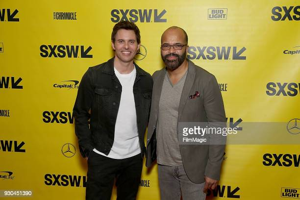 Actors James Marsden and Jeffrey Wright attend the Westworld Featured Session during SXSW at Austin Convention Center on March 10 2018 in Austin Texas