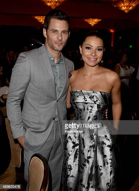Actors James Marsden and Jessica Parker Kennedy attend the Hollywood Foreign Press Association's Grants Banquet at The Beverly Hilton Hotel on August...