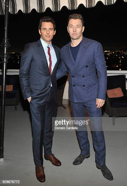 Actors James Marsden and Joel Edgerton attend a private dinner hosted by GQ and Dior Homme in celebration of the 2016 GQ Men of The Year party at...