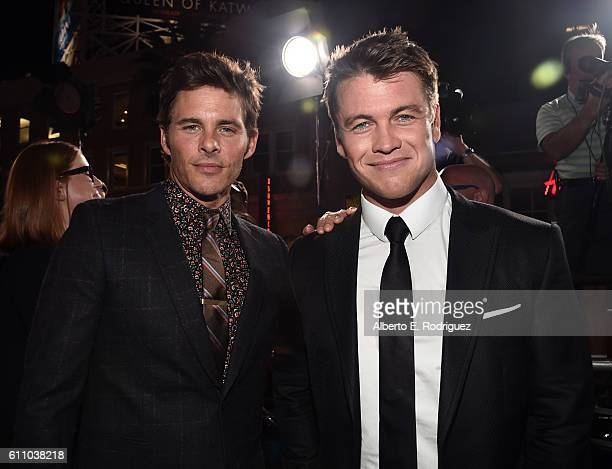 Actors James Marsden and Luke Hemsworth attends the premiere of HBO's Westworld at TCL Chinese Theatre on September 28 2016 in Hollywood California