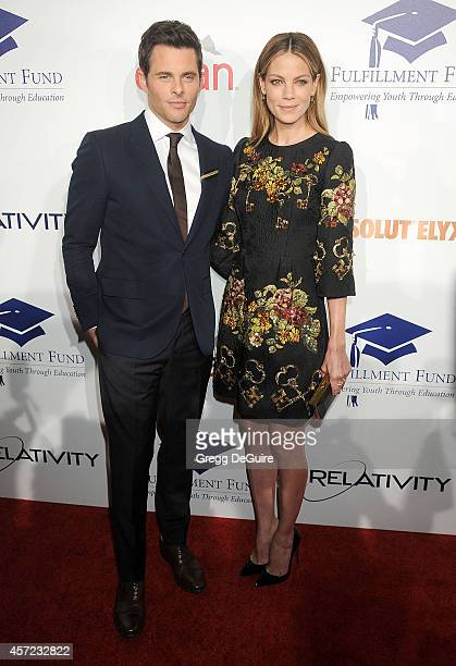 Actors James Marsden and Michelle Monaghan arrive at the 20th Annual Fulfillment Fund Stars Benefit Gala at The Beverly Hilton Hotel on October 14...