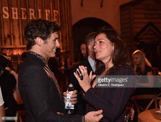 Actors James Marsden and Sidse Babett Knudsen attend the after party for the premiere of HBO's 'Westworld' at TCL Chinese Theatre on September 28...