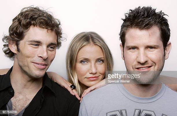 Actors James Marsden Cameron Diaz and director Richard Kelly pose for a portrait session in July 2009 at the Photographed at the 2009 San Diego...