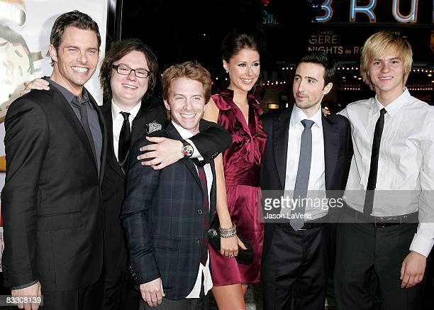 Actors James Marsden Clark Duke Seth Green Amanda Crew Josh Zuckerman and Mark L Young attend the Los Angeles Premiere of 'Sex Drive' at the Mann...
