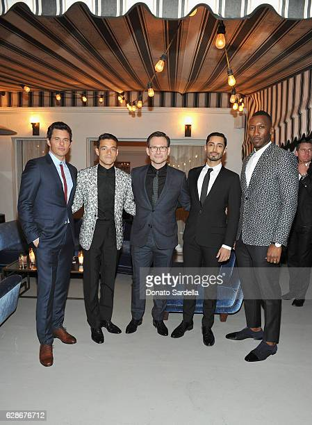 Actors James Marsden Rami Malek Christian Slater Riz Ahmed and Mahershala Ali attend a private dinner hosted by GQ and Dior Homme in celebration of...