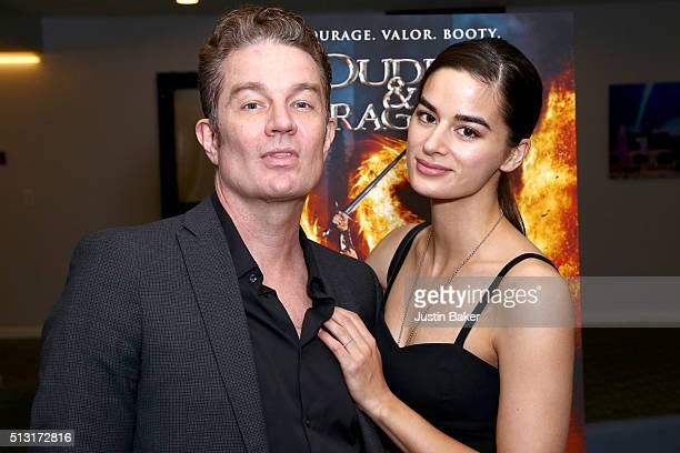 Actors James Marsters and Jasmin Marsters attend the premiere of Samuel Goldwyn Films' 'Dudes And Dragons' at Harmony Gold on February 29 2016 in Los...