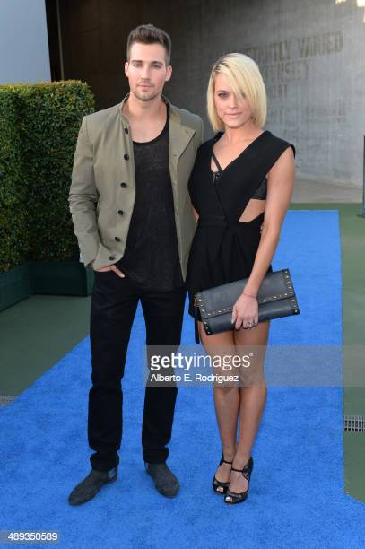 Actors James Maslow and Peta Murgatroyd attend 1027 KIIS FM's 2014 Wango Tango at StubHub Center on May 10 2014 in Los Angeles California