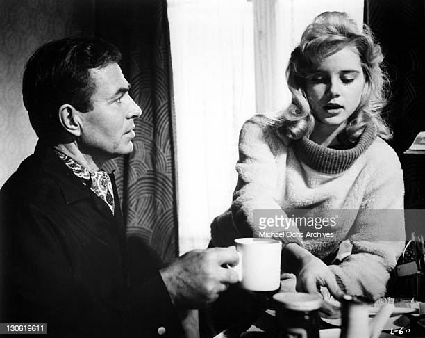 Actors James Mason and Sue Lyon perform in a scene from the movie 'Lolita' which was released in 1962