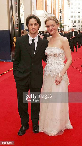 Actors James McAvoy and Anne-Marie Duff arrive for The Pioneer British Academy Television Awards at the Theatre Royal on April 17, 2005 in London,...