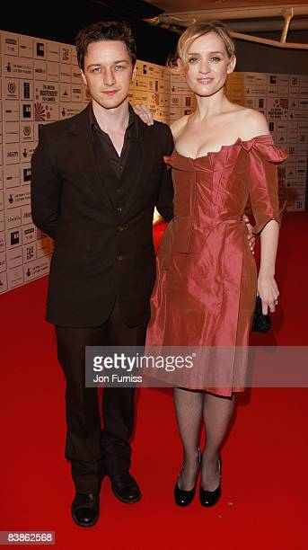 Actors James McAvoy and AnneMarie Duff attend the British Independent Film Awards at the Old Billingsgate Market on November 30 2008 in London England