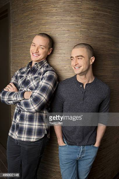 Actors James McAvoy and Daniel Radcliffe are photogrpahed for USA Today on November 10 2015 in New York City PUBLISHED IMAGE