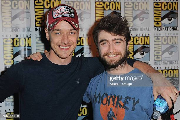 Actors James McAvoy and Daniel Radcliffe of 'Victor Frankenstein' attend the 20th Century FOX panel during ComicCon International 2015 at the San...
