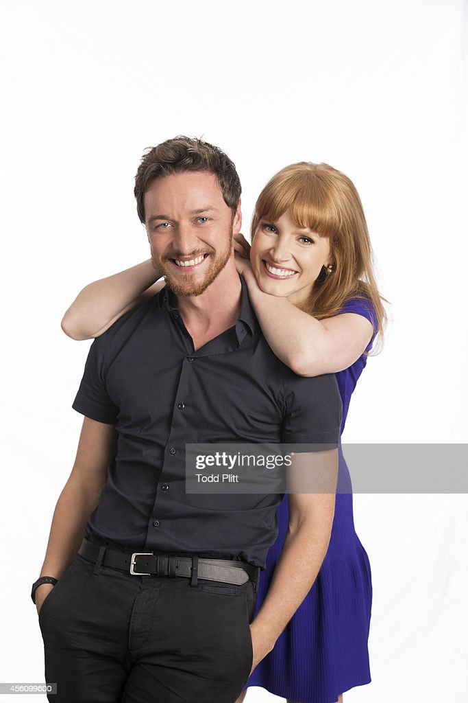 James McAvoy and Jessica Chastain, USA Today, September 10, 2014