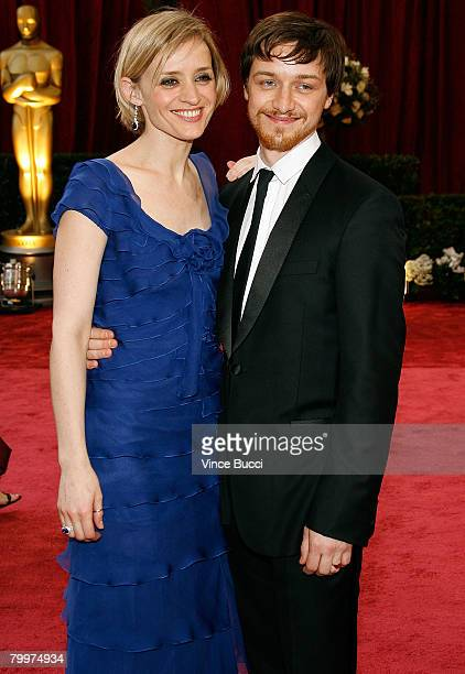 Actors James McAvoy and wife Anne-Marie Duff arrive at the 80th Annual Academy Awards held at the Kodak Theatre on February 24, 2008 in Hollywood,...