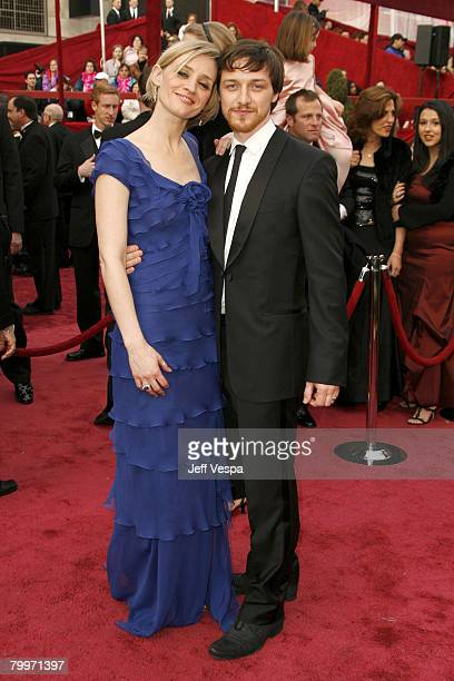 Actors James McAvoy and wife Anne-Marie Duff attend the 80th Annual Academy Awards at the Kodak Theatre on February 24, 2008 in Los Angeles,...