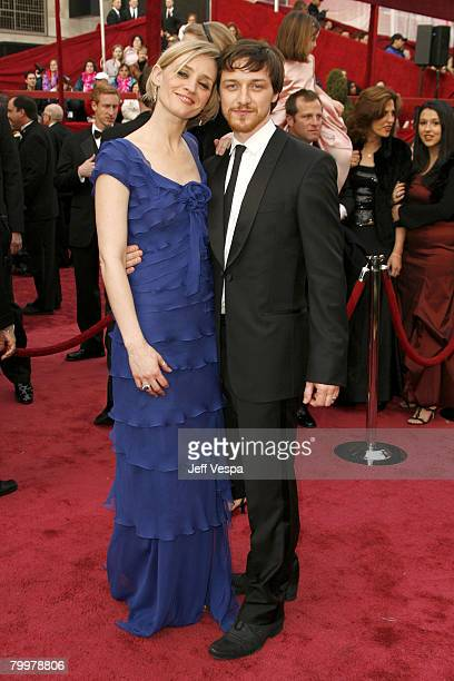 Actors James McAvoy and wife Anne-Marie Duffattend the 80th Annual Academy Awards at the Kodak Theatre on February 24, 2008 in Los Angeles,...