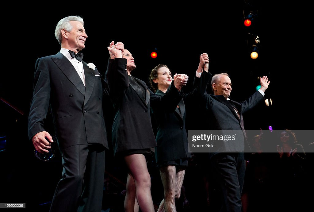 Actors James Naughton, Ann Reinking, Bebe Neuwirth and Joel Grey perform at the 7,486th performance of 'Chicago', the second longest running Broadway show of all time at Ambassador Theater on November 23, 2014 in New York City.
