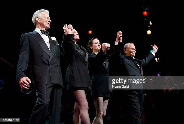 Actors James Naughton Ann Reinking Bebe Neuwirth and Joel Grey perform at the 7486th performance of 'Chicago' the second longest running Broadway...