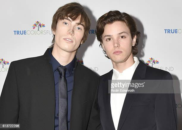 Actors James Paxton and Tyler Young attend Cyndi Lauper's True Colors Fund Inaugural 'Damn Gala' at Hollywood Athletic Club on October 9 2016 in...