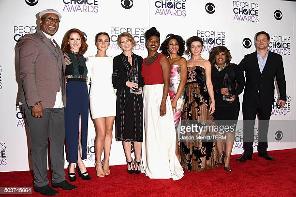 Actors James Pickens Jr Sarah Drew Camilla Luddington Ellen Pompeo Jerrika Hinton Kelly McCreary Caterina Scorsone Chandra Wilson and Justin Chambers...