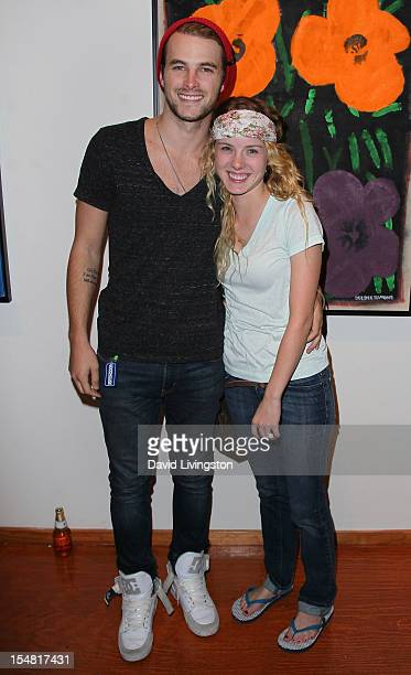 Actors James Preston and Laura Slade Wiggins attend the Dee Dee Ramone Memorial Art Exhibition at Subliminal Projects Gallery on October 26 2012 in...