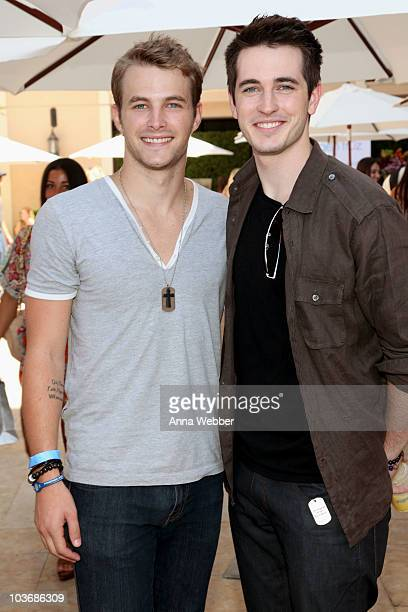 Actors James Preston and Travis Caldwell attend the Kari Feinstein Primetime Emmy Awards Style Lounge Day 2 held at Montage Beverly Hills hotel on...