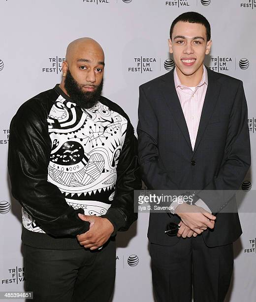 Actors James 'Primo' Grant and John Diaz attend the Five Star Premiere during the 2014 Tribeca Film Festival at Chelsea Bow Tie Cinemas on April 17...