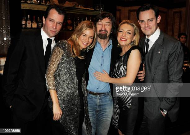 Actors James Purefoy Sienna Miller Sir Trevor Nunn Sheridan Smith and Harry HaddenPaton attend an after party celebrating the Gala Preview of the new...