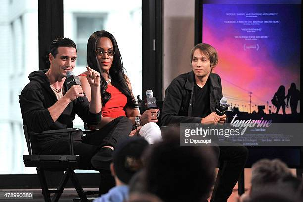 Actors James Ransone Mya Taylor and filmmaker Sean Baker attend AOL BUILD Speaker Series Meet the cast of Tangerine at AOL Studios In New York on...