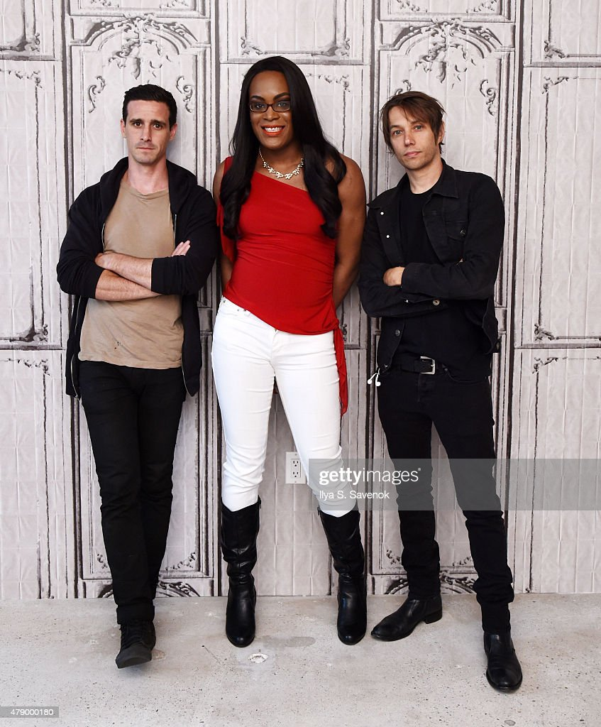 Actors James Ransone, Mya Taylor and Filmmaker Sean Baker attend AOL BUILD Speaker Series: Meet The Cast Of 'Tangerine' at AOL Studios In New York on June 29, 2015 in New York City.