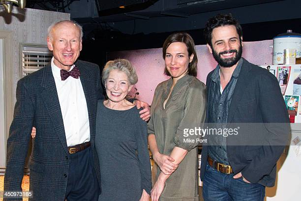 Actors James Rebhorn Phyllis Somerville Rebecca Henderson and Luke Kirby attend the 'Too Much Too Many Too Much Too Many' Opening Night at Roundabout...