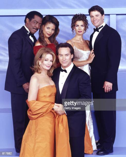 Actors James Reynolds Renee Jones Kristian Alfonso Peter Reckell Deidre Hall and Drake Hogestyn as star in NBC's daytime soap series Days of Our Lives