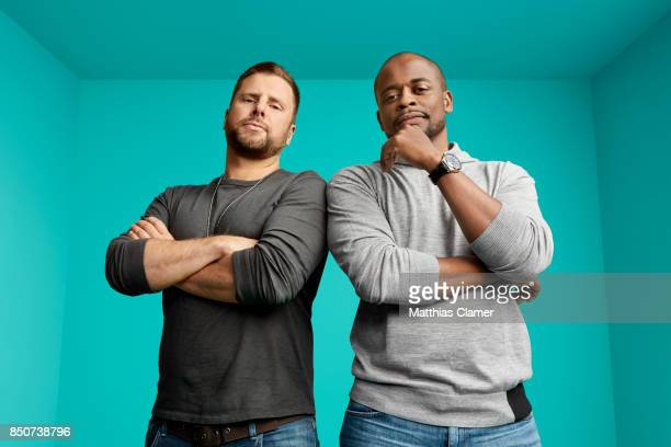 Actors James Roday and Dule Hill from Psych The Movie are photographed for Entertainment Weekly Magazine on July 21 2017 at Comic Con in San Diego...