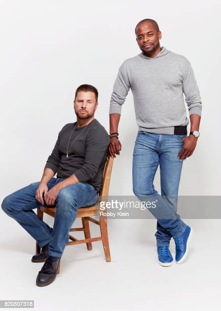 Actors James Roday and Dule Hill from USA Network's 'Psych' pose for a portrait during ComicCon 2017 at Hard Rock Hotel San Diego on July 21 2017 in...