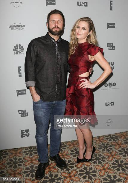 Actors James Roday and Maggie Lawson attend NBCUniversal's press junket at Beauty Essex on November 13 2017 in Los Angeles California