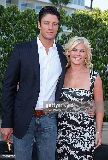 Actors James Scott and Alison Sweeney arrive to the NBC AllStar Party held during the 2007 Summer Television Critics Association Press Tour at the...